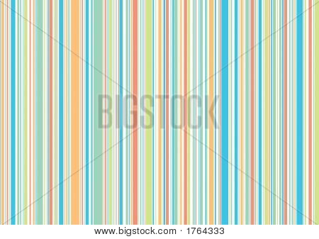 Pastel Retro Holiday Beach Stripes