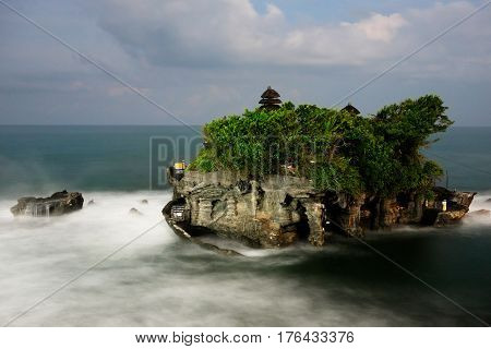 Tanah Lot Temple, sacred place at Bali, Indonesia