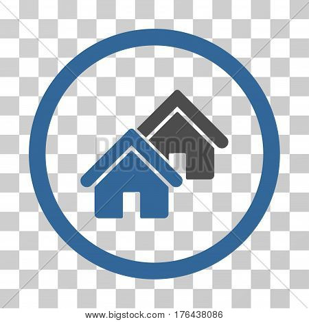 Realty icon. Vector illustration style is flat iconic bicolor symbol cobalt and gray colors transparent background. Designed for web and software interfaces.