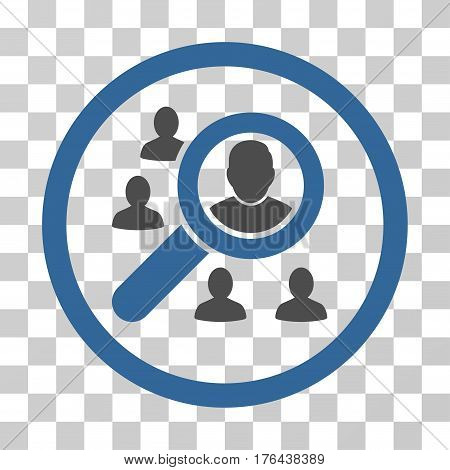 Search People icon. Vector illustration style is flat iconic bicolor symbol cobalt and gray colors transparent background. Designed for web and software interfaces.