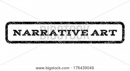 Narrative Art watermark stamp. Text caption inside rounded rectangle with grunge design style. Rubber seal stamp with dirty texture. Vector black ink imprint on a white background.