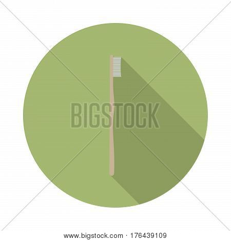 flat vector icon with long shadow in to green round geometric shape as zero waste bpa and plastic free concept