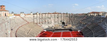 Verona Arena In A Beautiful Summer Day In Verona, Italy
