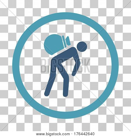 Porter icon. Vector illustration style is flat iconic bicolor symbol cyan and blue colors transparent background. Designed for web and software interfaces.