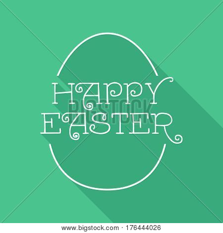 Happy Easter Egg Quote Greeting Card Design