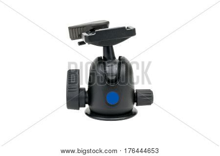 Ball head for a tripod isolated on a white background.
