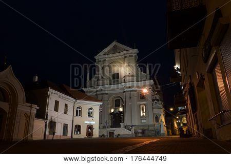 Vilnius City At Night.