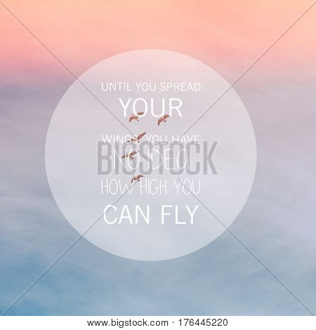 Conceptual Image With Birds Flying High In Sky