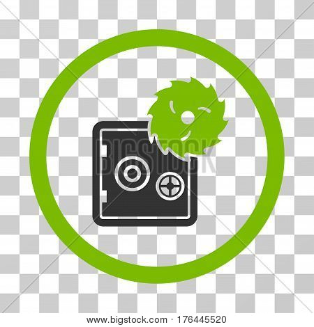 Break Safe icon. Vector illustration style is flat iconic bicolor symbol eco green and gray colors transparent background. Designed for web and software interfaces.