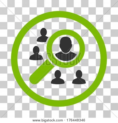Search People icon. Vector illustration style is flat iconic bicolor symbol eco green and gray colors transparent background. Designed for web and software interfaces.