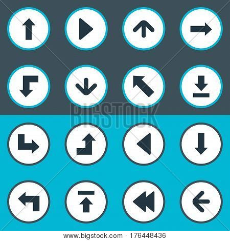 Vector Illustration Set Of Simple Indicator Icons. Elements Transfer, Left Direction, Pointer And Other Synonyms Increasing, Arrow And Decline.