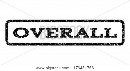 Overall watermark stamp. Text caption inside rounded rectangle with grunge design style. Rubber seal stamp with unclean texture. Vector black ink imprint on a white background.
