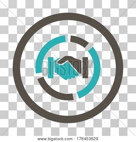 Acquisition Diagram icon. Vector illustration style is flat iconic bicolor symbol grey and cyan colors transparent background. Designed for web and software interfaces.