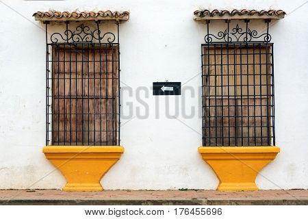 Old Colonial Windows In Mompox, Colombia