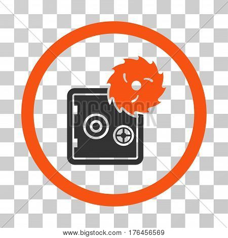 Break Safe icon. Vector illustration style is flat iconic bicolor symbol orange and gray colors transparent background. Designed for web and software interfaces.