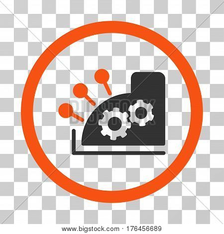 Cash Register icon. Vector illustration style is flat iconic bicolor symbol orange and gray colors transparent background. Designed for web and software interfaces.