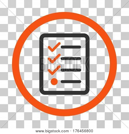 Checklist icon. Vector illustration style is flat iconic bicolor symbol orange and gray colors transparent background. Designed for web and software interfaces.