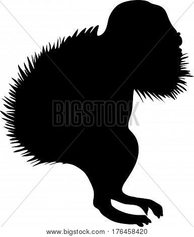 Silhouette of a ground squirrel - digitally hand drawn vector illustration