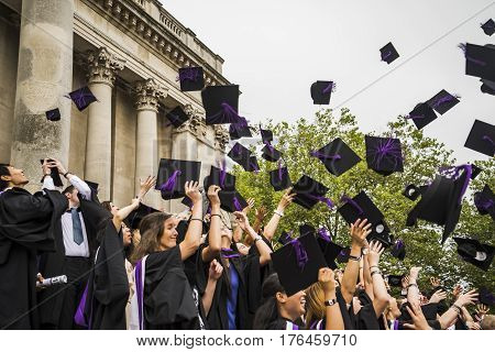 PORTSMOUTH - JULY 20: graduation ceremony at Portsmouth University on July 20 2015 in Portsmouth UK