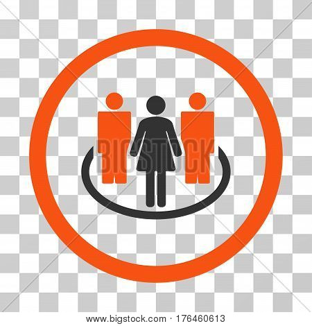 Society icon. Vector illustration style is flat iconic bicolor symbol orange and gray colors transparent background. Designed for web and software interfaces.
