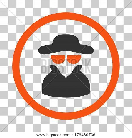 Spy icon. Vector illustration style is flat iconic bicolor symbol orange and gray colors transparent background. Designed for web and software interfaces.