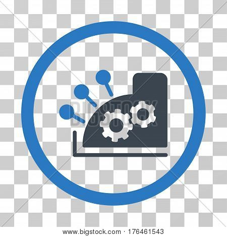 Cash Register icon. Vector illustration style is flat iconic bicolor symbol smooth blue colors transparent background. Designed for web and software interfaces.