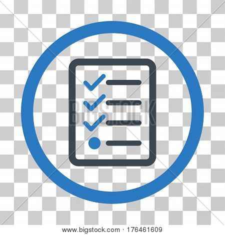 Checklist icon. Vector illustration style is flat iconic bicolor symbol smooth blue colors transparent background. Designed for web and software interfaces.