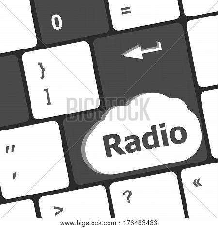 Radio Button On A Computer Keyboard Keys