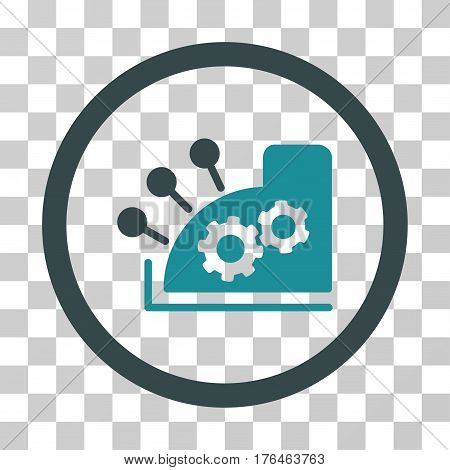 Cash Register icon. Vector illustration style is flat iconic bicolor symbol soft blue colors transparent background. Designed for web and software interfaces.