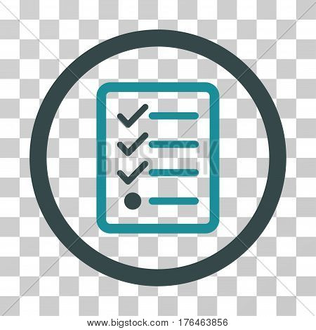Checklist icon. Vector illustration style is flat iconic bicolor symbol soft blue colors transparent background. Designed for web and software interfaces.