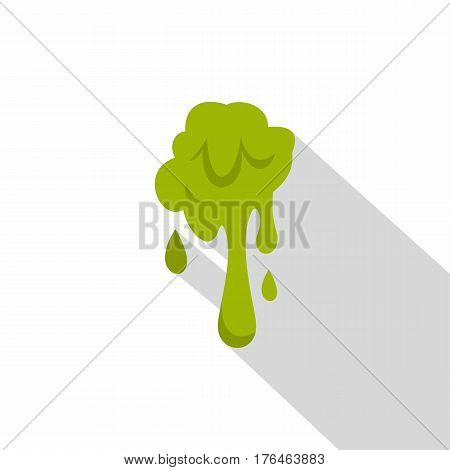 Green slime spot icon. Flat illustration of green slime spot vector icon for web isolated on white background