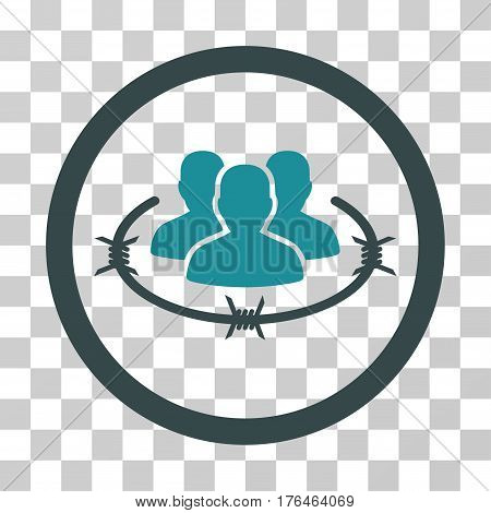 Concentration Camp icon. Vector illustration style is flat iconic bicolor symbol soft blue colors transparent background. Designed for web and software interfaces.
