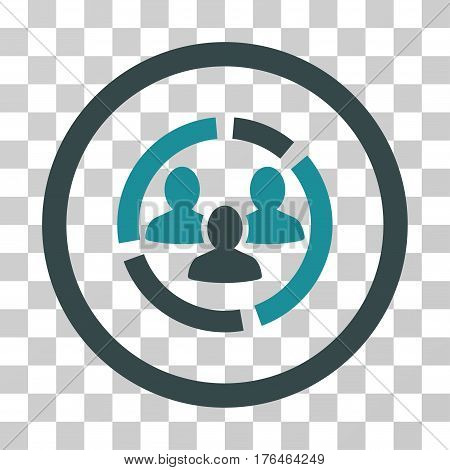 Demography Diagram icon. Vector illustration style is flat iconic bicolor symbol soft blue colors transparent background. Designed for web and software interfaces.