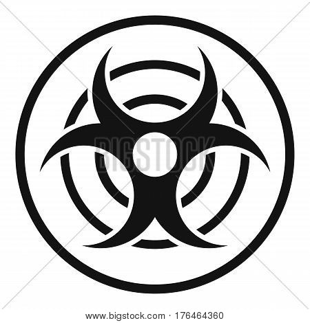 Sign of biological threat icon. Simple illustration of sign of biological threat vector icon for web