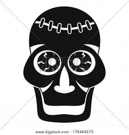 Skull icon. Simple illustration of skull vector icon for web