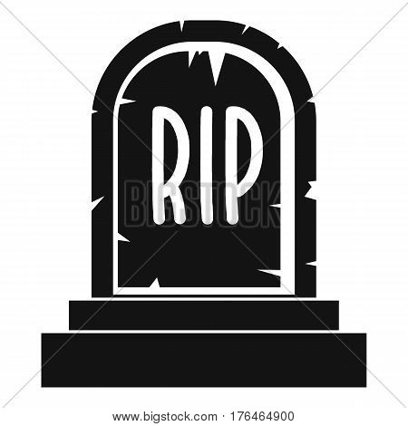 Gravestone with RIP text icon. Simple illustration of gravestone with RIP text vector icon for web