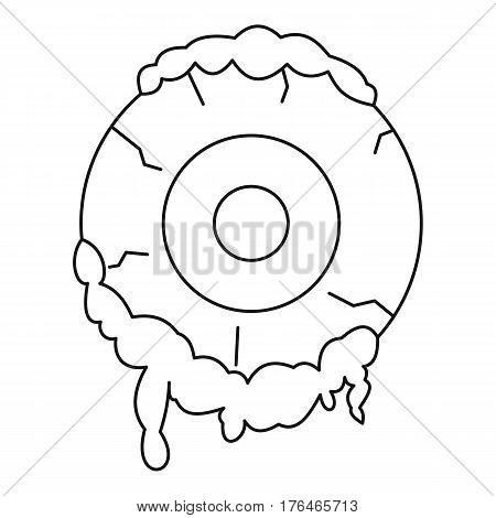 Terrible eyeball icon. Outline illustration of terrible eyeball vector icon for web