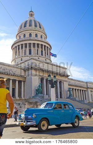 Scene In The Center Of Havana