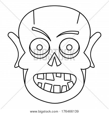 Dead icon. Outline illustration of dead vector icon for web