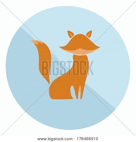 Excellent two-colored flat fox icon for your design
