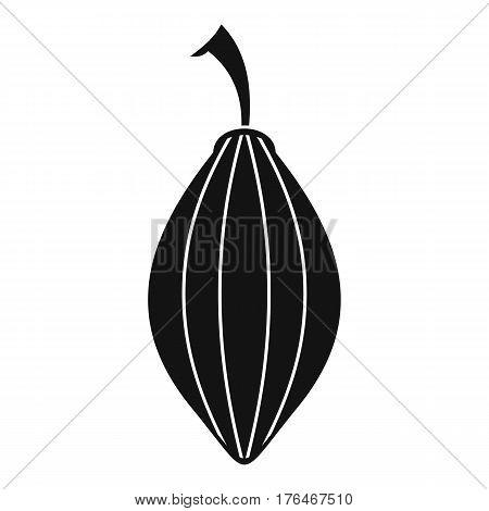 Black cardamom pod icon. Simple illustration of black cardamom pod whole vector icon for web