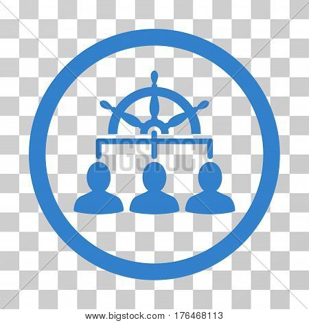 Management Steering Wheel icon. Vector illustration style is flat iconic symbol cobalt color transparent background. Designed for web and software interfaces.