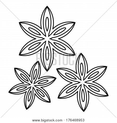 Anise icon. Outline illustration of anise vector icon for web