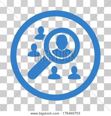 Search People icon. Vector illustration style is flat iconic symbol cobalt color transparent background. Designed for web and software interfaces.