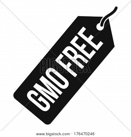 GMO free price tag icon. Simple illustration of GMO free price tag i vector icon for web