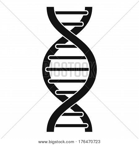 DNA spiral icon. Simple illustration of DNA spiral vector icon for web