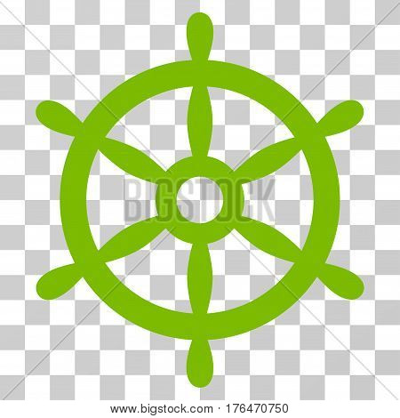 Boat Steering Wheel icon. Vector illustration style is flat iconic symbol eco green color transparent background. Designed for web and software interfaces.