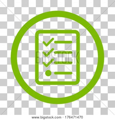 Checklist icon. Vector illustration style is flat iconic symbol eco green color transparent background. Designed for web and software interfaces.