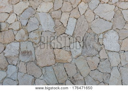 Rough stone wall San Jose del Cabo Baja California Mexico