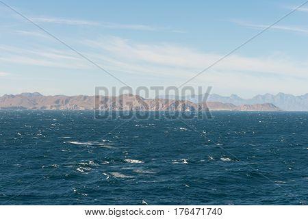 Desert coastline of Loreto Baja California Mexico